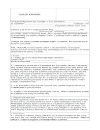 Apartment Sublease Template Sublease Agreement Template California Apartment Sublease Contact