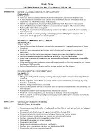 Personal Traits For Resume Example Manager Corporate Development Resume Samples Velvet Jobs 60