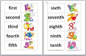 18 Ordinal Numbers 1 10 Clipart Clipartfest Clip Free