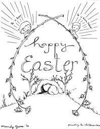 Ministrytochildren Coloring Pages He Is Risen He Is Risen King Free