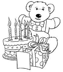 Small Picture Virtual Birthday Cake With Candles Coloring Coloring Pages