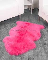 by design ideas pink fur rug lovely bright sheepskin fluffy