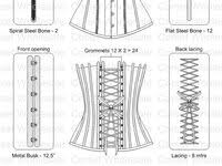 Схема <b>корсета</b>: лучшие изображения (541) | Sewing patterns, Diy ...