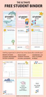 Free Printable Binder Templates Free Student Binder Printables 50 Brilliant Planning Sheets
