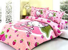 hello kitty comforter set twin little girl bedding bedspread for single double beds 3 with duvet