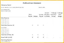 Simple Profit And Loss Statements Profit Loss Statement Excel Template Format In And For Restaurant