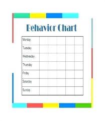 Daily Behavior Chart Template For Kindergarten Free Printable Daily Behavior Chart For Teachers Behavior