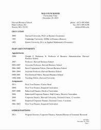 Harvard Business School Resume Template Your Prospex Free Resume
