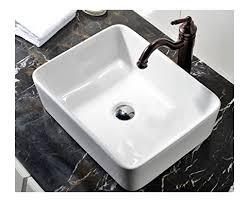 bathroom vessel sinks. vccucine rectangle above counter porcelain ceramic bathroom vessel sinks