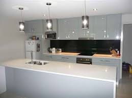 Small Kitchen Counter Lamps Galley Kitchen Design With Ceramic Wall And Small Lamps Kitchen