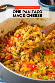 What goes with parmigiano reggiano cheese? One Pan Taco Mac And Cheese Yellowblissroad Com