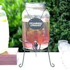 glass beverage dispenser with spigot home and furniture romantic glass beverage dispenser with metal spigot at