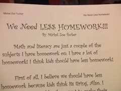 less homework more family time persuasive essay on less homework marked by teachers
