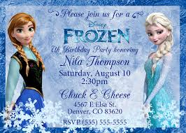elsa birthday invitations frozen birthday invitations kustom kreations