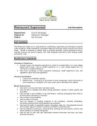 Restaurant Manager Job Description Resume Best Of 26 Beneficial