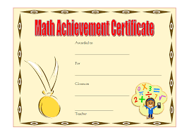 Math Award Certificate Template 6 – Best 10 Templates