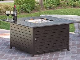 the bcp extruded aluminum gas outdoor fire pit table with cover is an incredible addition to any deck or patio with an elegant dark brown finish and a