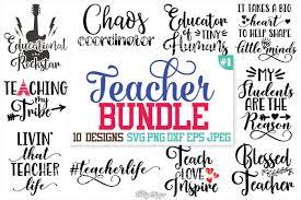 Free svg cutting files designed by jen goode. Free Teacher Svg Bundle Teacher Bundle Svg Dxf Png Cut Files Cricut Crafter File