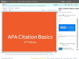 Apa Citation Basics Via Easybib Citation Resources Technical