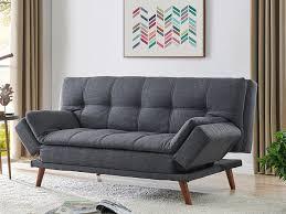 fabric sofa bed 3 seater grey or dark