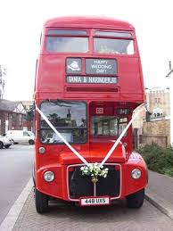 weddings dave's buses Wedding Hire London Bus the routemaster outside a mosque in west london wedding hire london bus