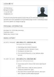 Easy Resume Template Interesting Short Resume Template Short Resume Examples Short Easy Resume