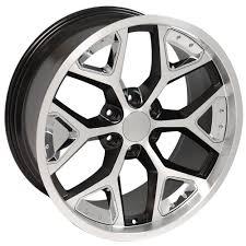 CV98 22-inch machined face satin black deep dish wheels fit Chevy ...