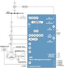 469 motor management relay 745 block diagram