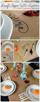 craft paper table runner