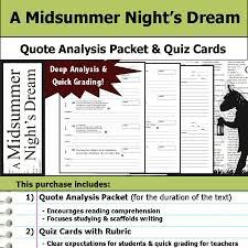 Midsummer Night\'s Dream Quotes Quiz Best Of A Midsummer Night's Dream Quote Analysis Reading Quizzes
