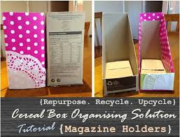 Magazine Holder From Cereal Box Repurpose Recycle Upcycle Cereal Box Organising Solution 68