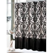 Black And White Curtain Designs Bathrom Designs Daphene Shower Curtain Elegant Bathroom