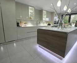 breakfast bar lighting ideas. this fantastic kitchen uses leds to make the cabinets really stand out and illuminate breakfast bar strategic placement cleverly creates a lot lighting ideas