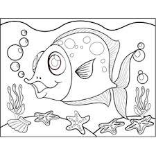 Fish With Polka Dots Coloring Page