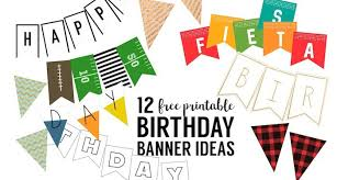 Happy Birthday Signs To Print Free Printable Birthday Banner Ideas Paper Trail Design