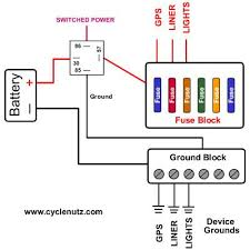 fuse block ground block wiring motorcycle electrical