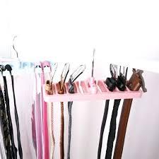 belt hangers for closet storage rack tie belt organizer space saver rotating scarf ties hanger holder