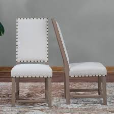 leather dining room chairs with nailheads best of belham living asher nailhead parsons dining chair set of 2 359