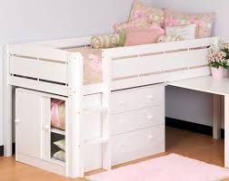 canwood junior loft bed in white finish 2131 1 ladder dream house lofts kids furniture and twin beds