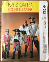 Pirate Costume Pattern Gorgeous UNCUT Child's Pirate Costume Sewing Pattern McCall's 448 Size 44848