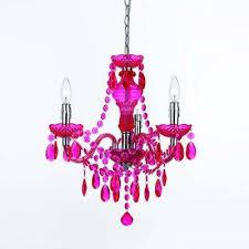 fulton hot 3 light pink mini chandelier