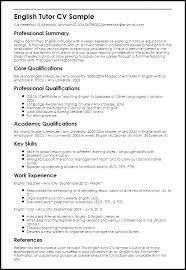 Cv For Teacher Sample Resume English Teacher Sample Resume Objective For Teacher