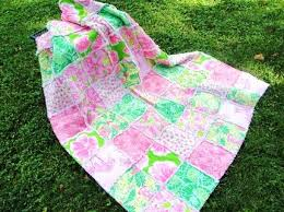 looking4lilly: Lilly Fabric Quilts by: By Tillie & Pink and Green Lilly Pulitzer fabric quilt by: By Tillie Adamdwight.com