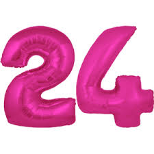 24th Birthday Helium Balloons Delivered In The Uk By