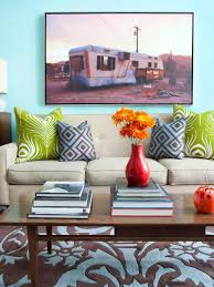 Orange And Brown Living Room Accessories Aqua Color Palette Aqua Color Schemes Hgtv