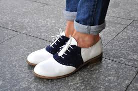 saddle womens leather oxfords classic handmade shoes image