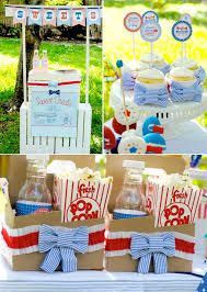 4th of july seerer themed backyard party with tons of cute ideas via kara s