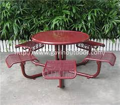 welded wire mesh outdoor cafe table chair set metal cafe style table chairs