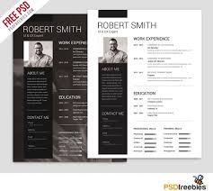 Trendy Resumes Free Download Simple And Clean Resume Free Psd Resume Templates Big Free Resume 56