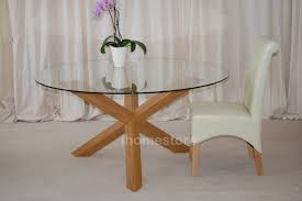 round glass top dining table with wood legs images channeladvisor com
